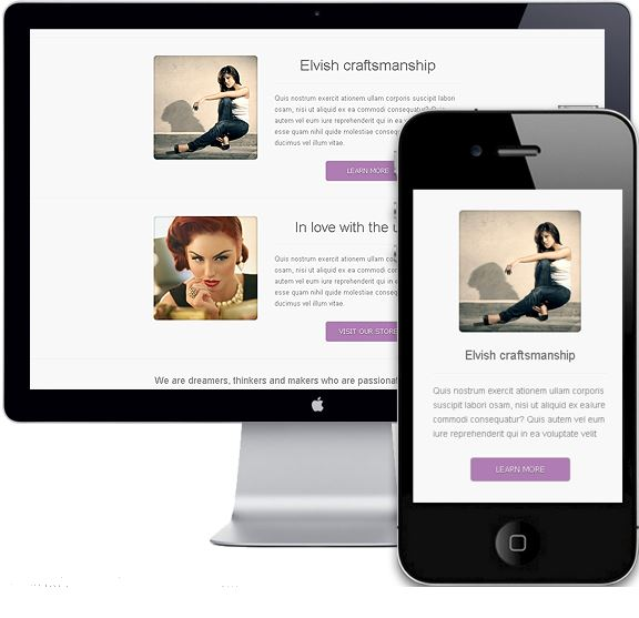 Responsive Newsletter mobile and desktop device
