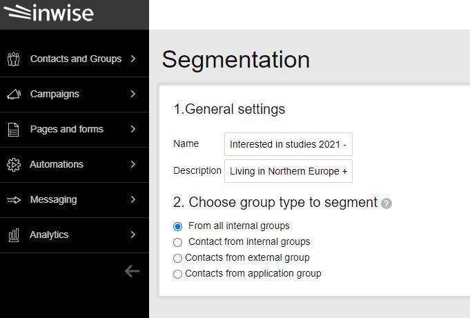 How to create a segment