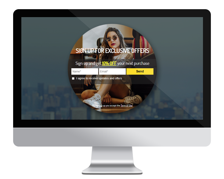 Salesforce - popup template